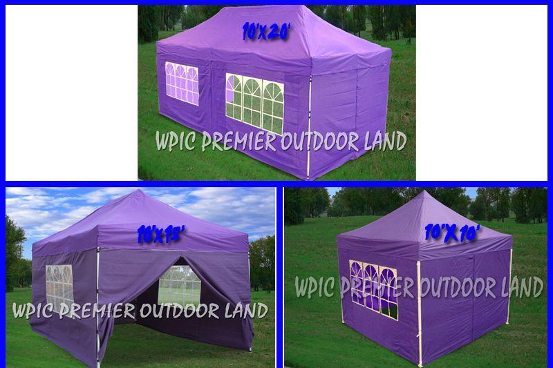 Purple Pop Up Canopy Party Tent Ez 3 Sizes Available 10