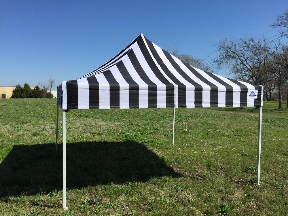 10 X10 Pop Up Canopy Party Tent Ez Black Stripe F