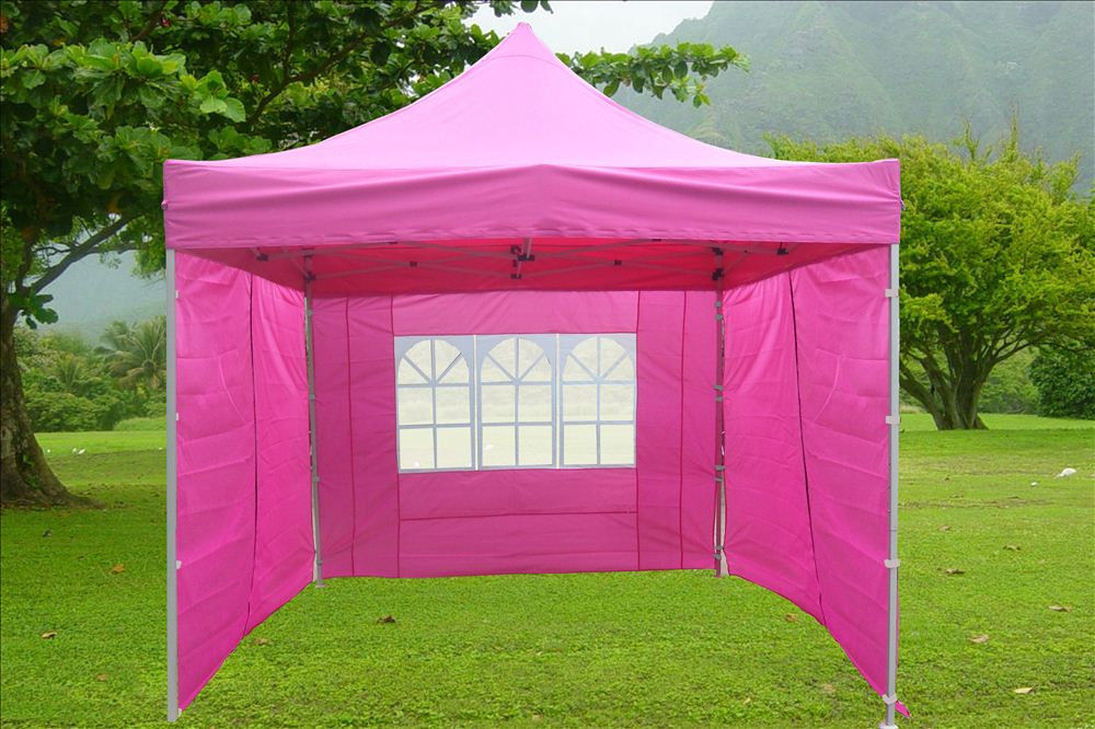 10 39 x10 39 enclosed pop up canopy party folding tent gazebo pink e model ebay - Enclosed gazebo models ...