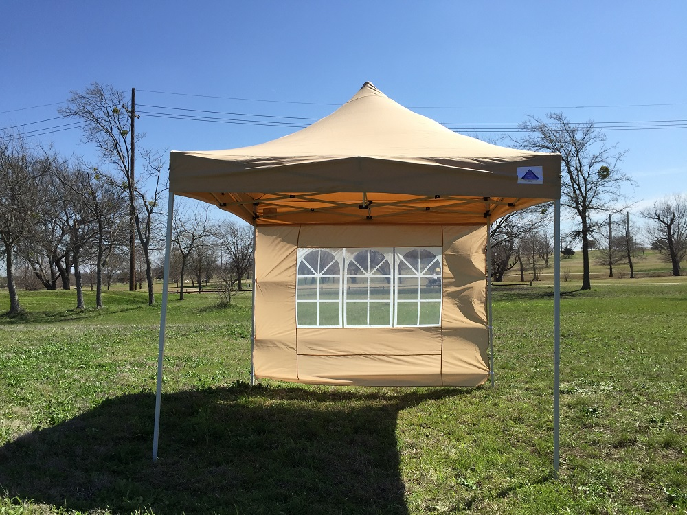 10 39 x10 39 enclosed pop up canopy party folding tent gazebo tan e model ebay - Enclosed gazebo models ...