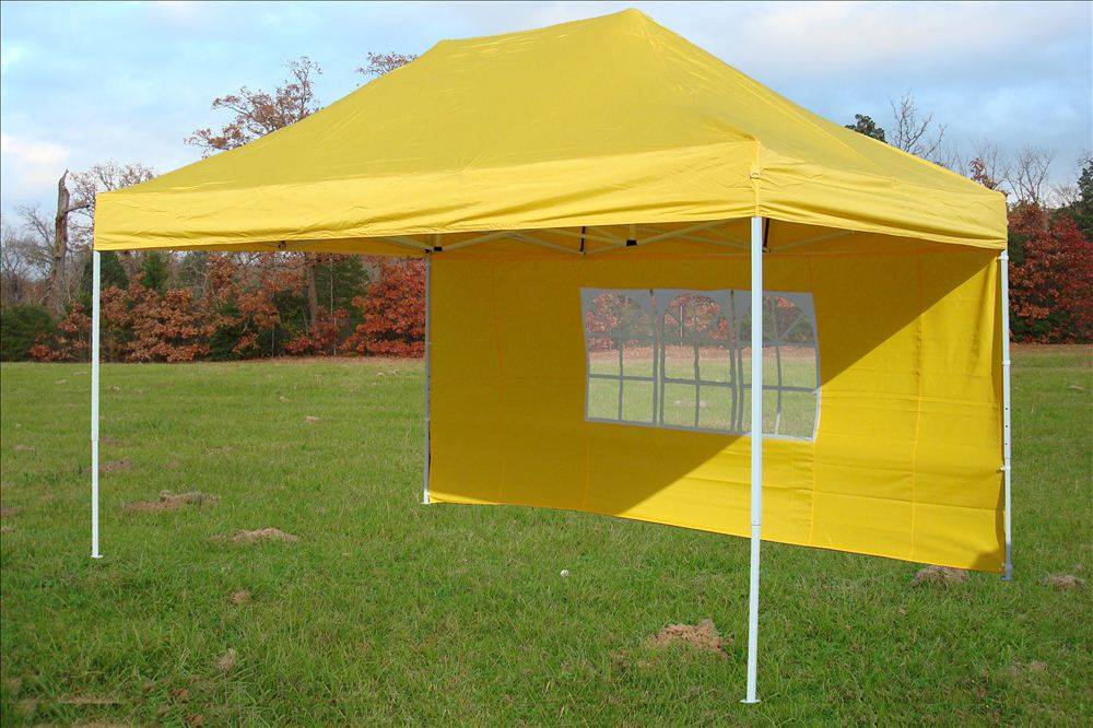 10 39 x15 39 enclosed pop up canopy party folding tent yellow e model ebay - Enclosed gazebo models ...