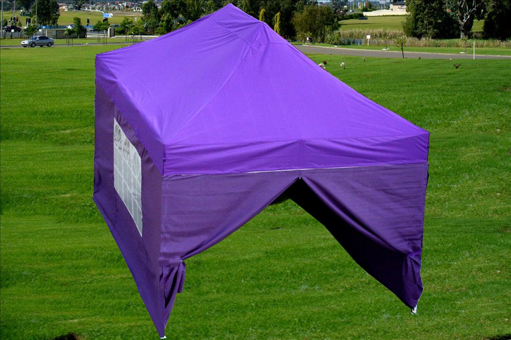 new style 77844 11790 Details about 10'x15' Pop Up Canopy Party Tent - Purple - F Model Upgraded  Frame