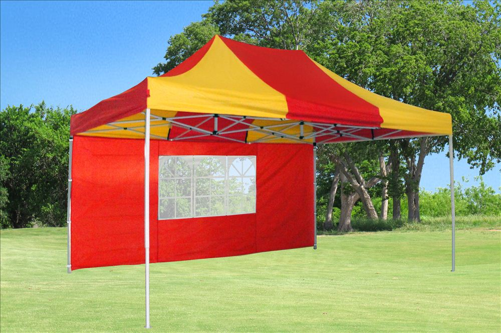 10 X15 Pop Up Canopy Party Tent Ez Red Yellow F Model