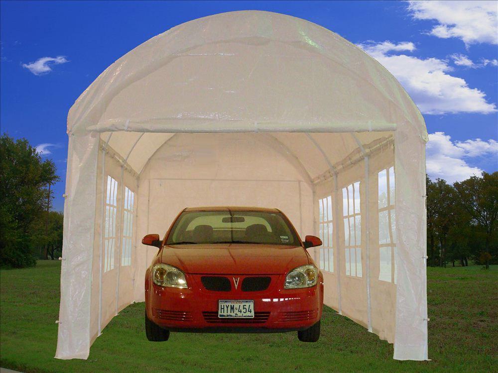 10 20 Carport Canopy : Party tent canopy carport car shelter w walls
