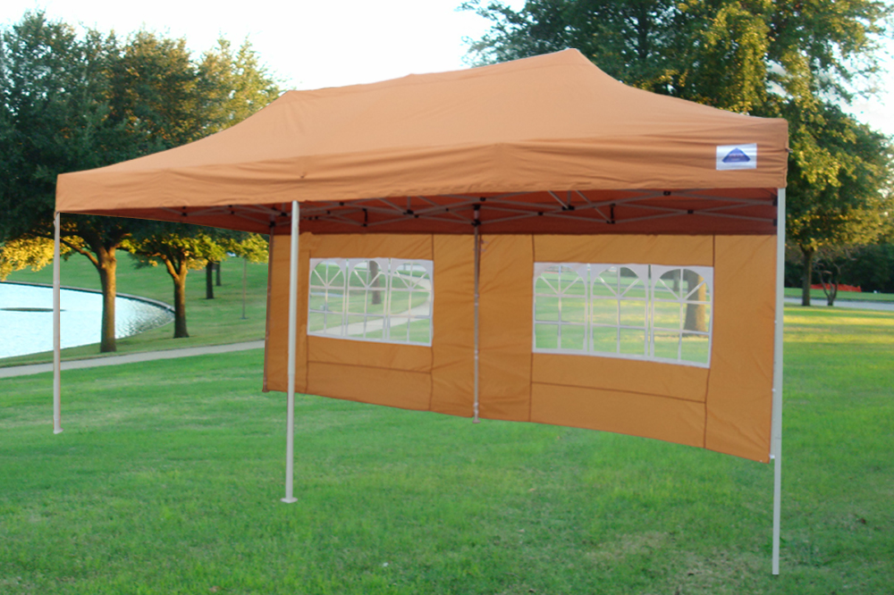 10 39 x20 39 enclosed pop up canopy party folding tent gazebo burnt orange e model - Enclosed gazebo models ...