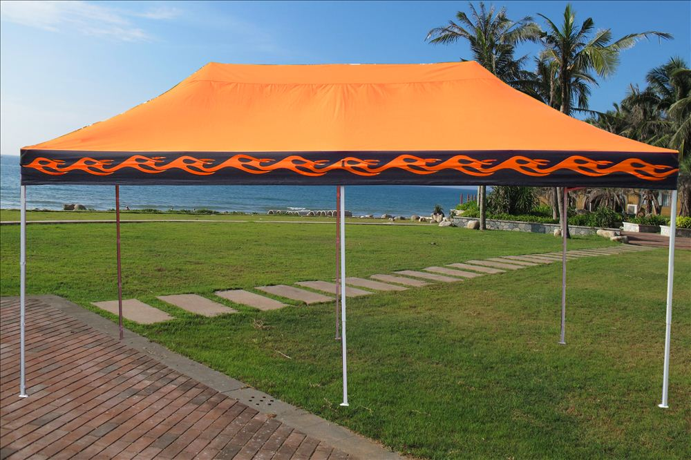 10 X20 Pop Up Canopy Party Tent Orange Flame F Model