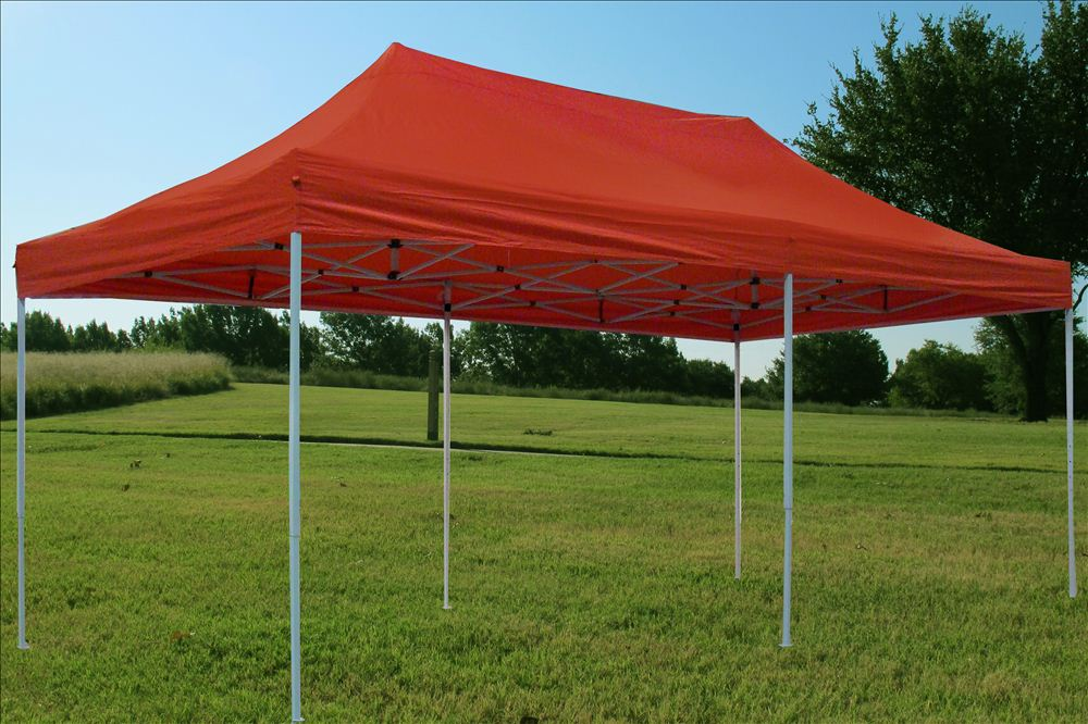 10 39 x20 39 enclosed pop up canopy party folding tent gazebo red e model ebay - Enclosed gazebo models ...