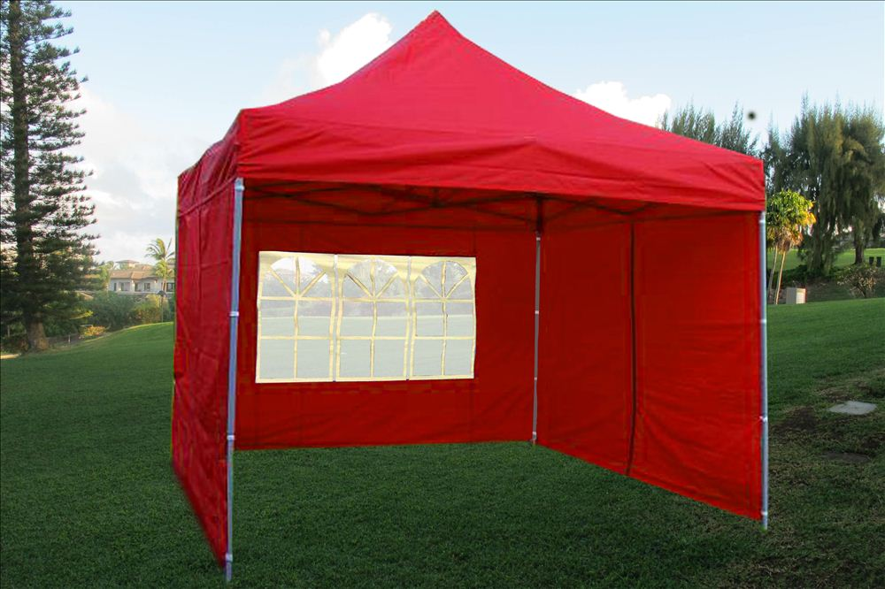 10 X 10 Pop Up Canopy Party Tent Gazebo Ez Red E