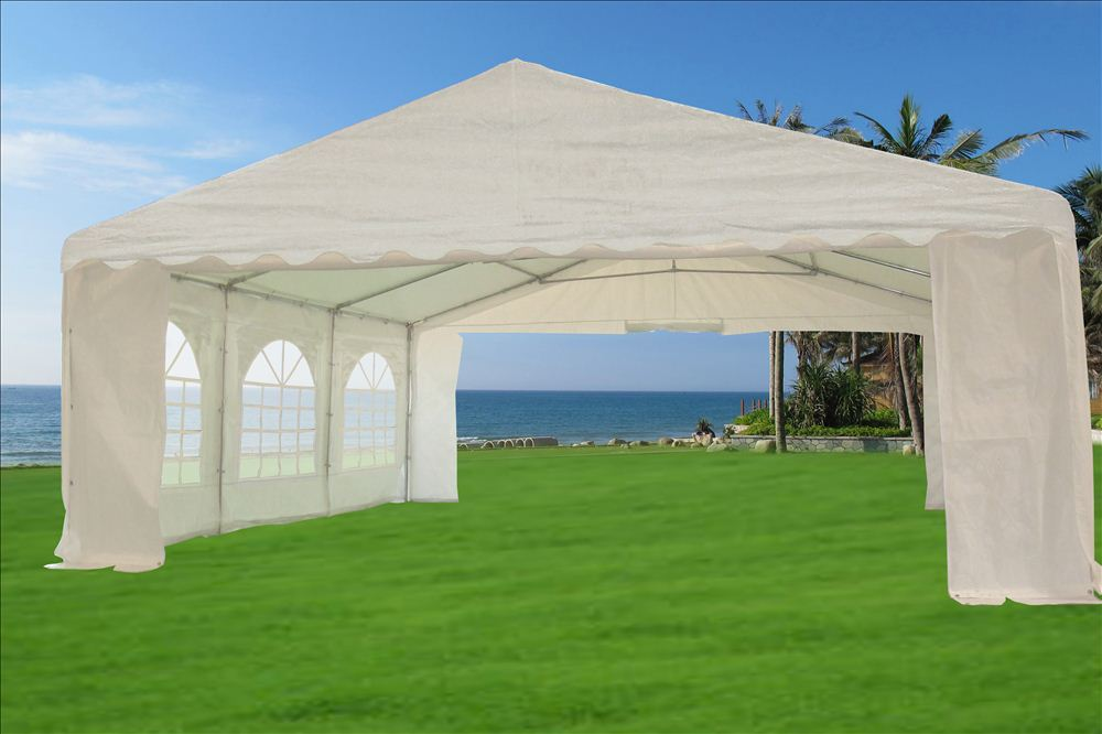 20 39 x 20 39 pe party tent heavy duty carport canopy car for Carport auto auction