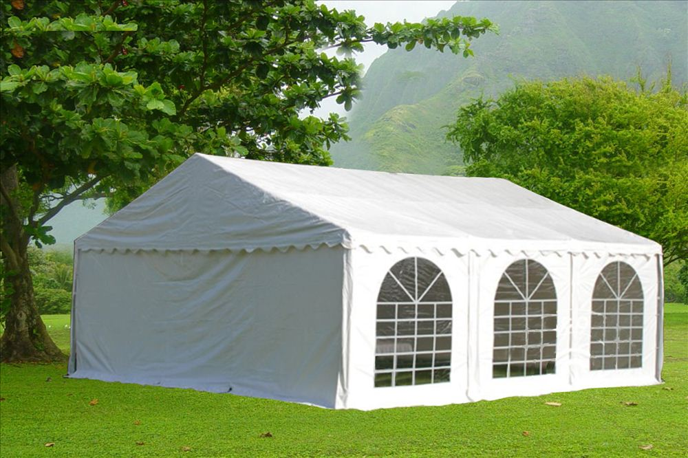 Click to Enlarge & PVC Party Tent 20u0027 x 20u0027 White - Heavy Duty Party Wedding Carport ...