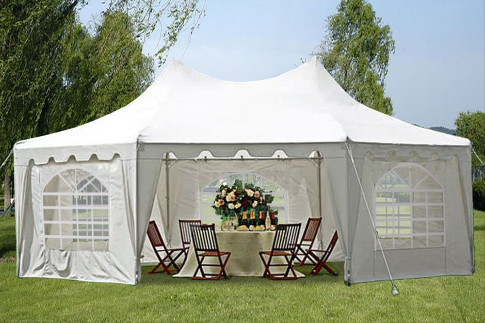 29'x21' Decagonal Wedding Party Tent Canopy Gazebo -White ...