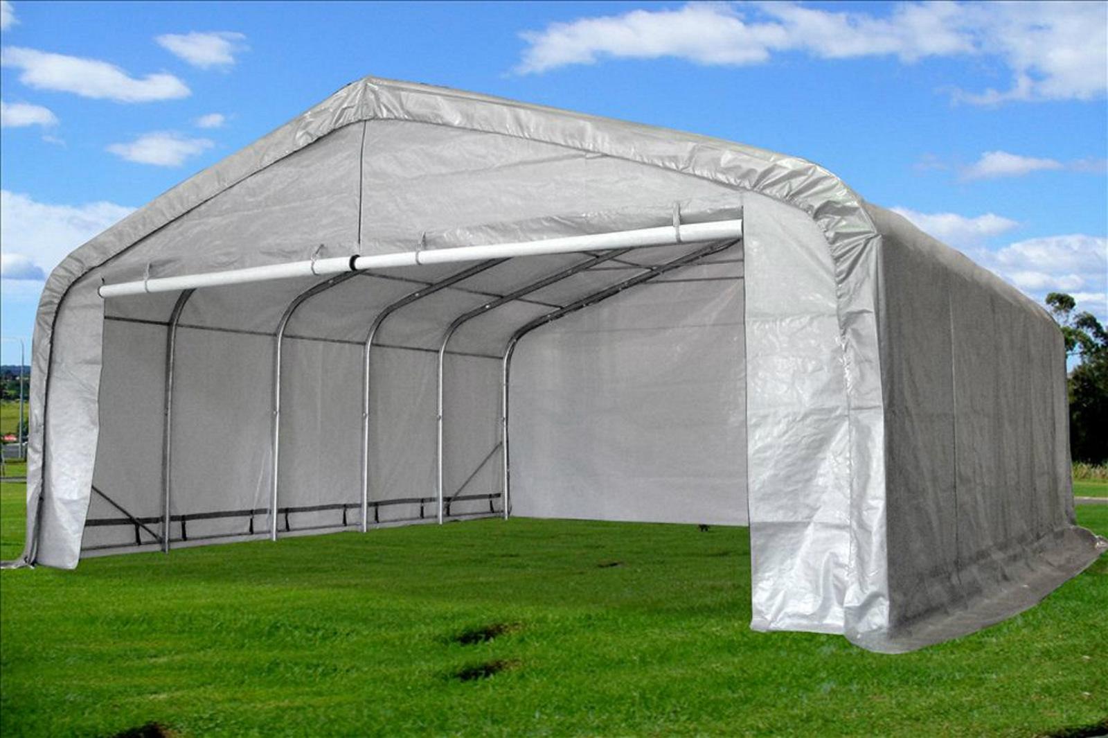 Canopies And Storage : Carport x garage storage canopy shed triangular top