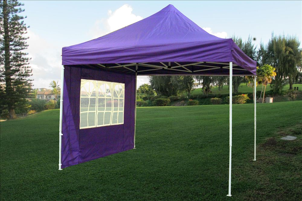 10 X 10 Pop Up Canopy Party Tent Gazebo Ez Purple E