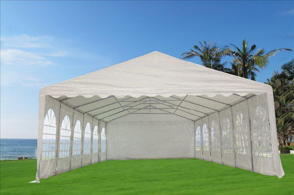 Plastic Carport Canopies : Pvc party tent  white heavy duty wedding