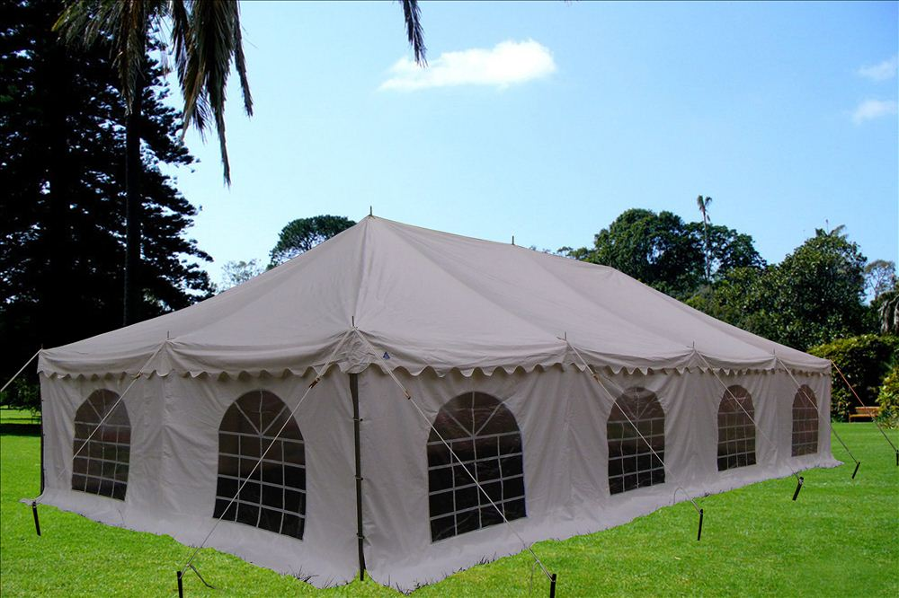 PVC Pole Tent 40'x20' - Party Wedding Tent Canopy Gazebo Shelter - White  eBay