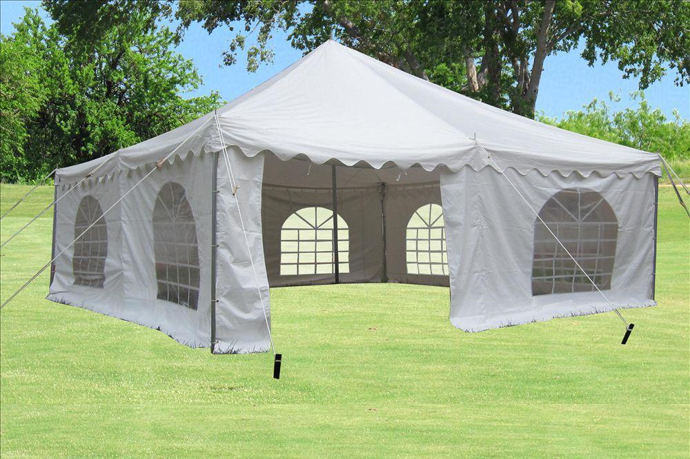 Pvc Pole Tent White 3 Sizes Available 20 X20 30