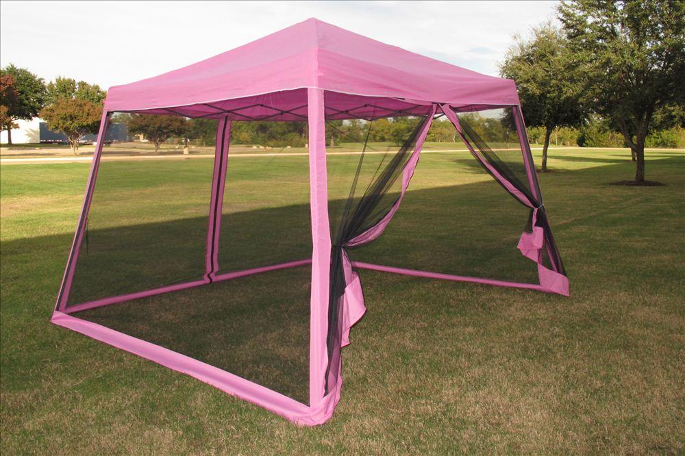 8'x8'/10'x10' Pop Up Canopy Party Tent Gazebo EZ w Net ...