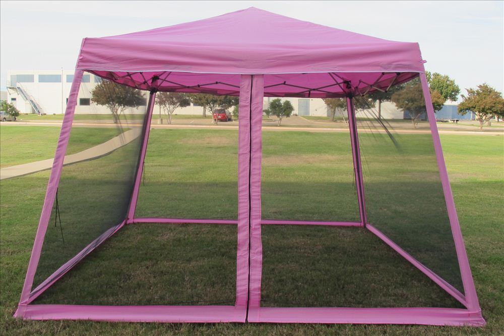 8 X8 10 X10 Pop Up Canopy Party Tent Gazebo Ez W Net 6