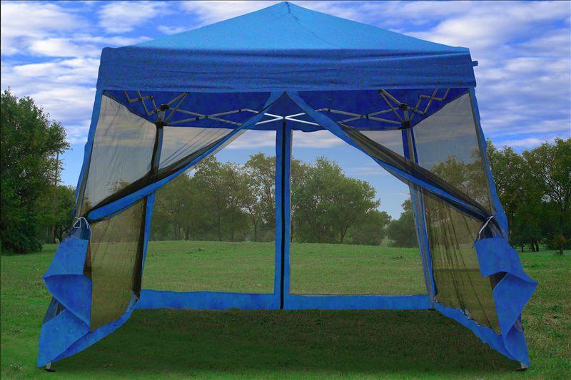 8 x 8 / 10x10 Pop Up Canopy Party Tent Gazebo EZ w Net ...