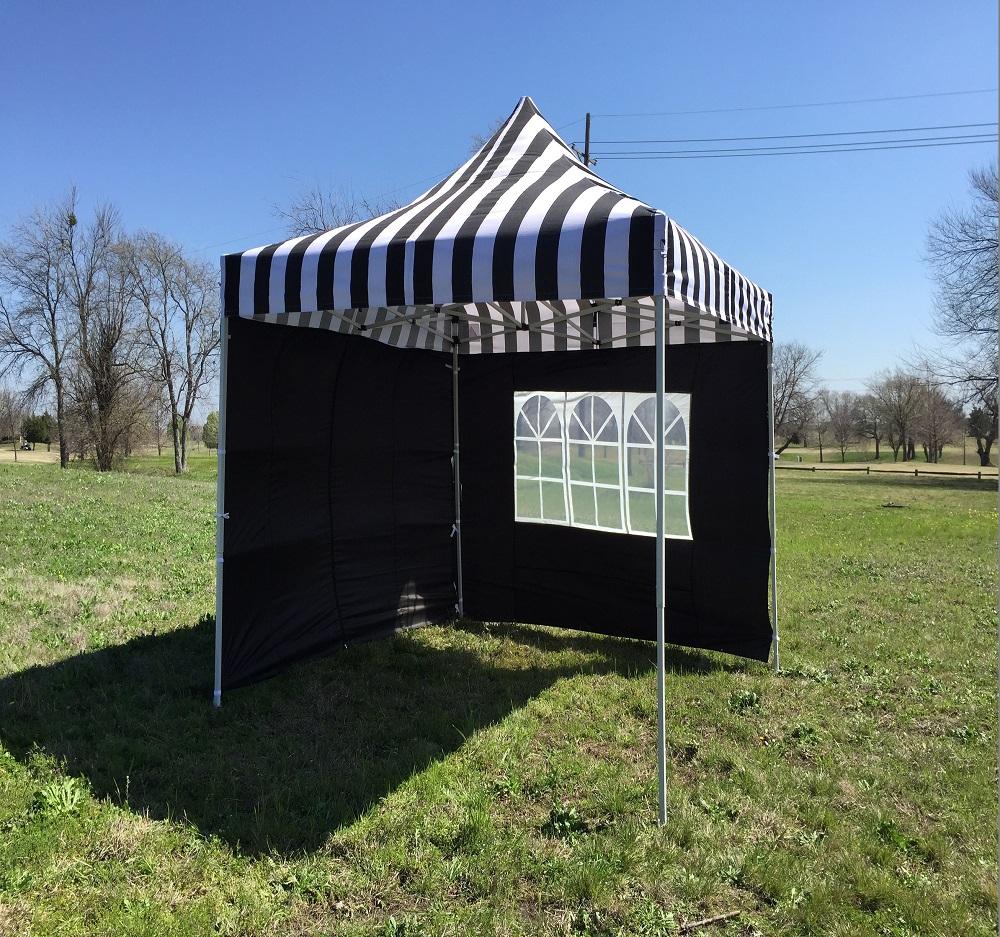 main image & 8u0027 x 8u0027 Pop Up 4 Wall Canopy Party Tent Gazebo EZ - Black Stripe ...