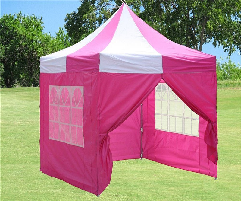 8 X8 Pop Up Canopy Party Tent Pink White Ebay