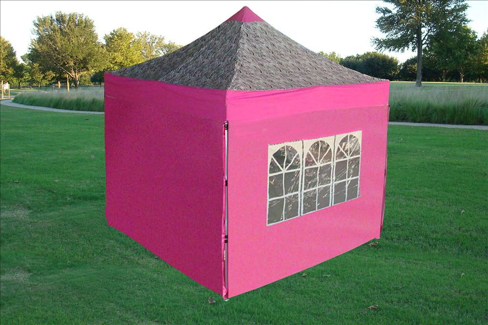 8u0027x8u0027 Pop Up Canopy Party Tent EZ - Pink White Yellow Purple Pink Zebra Black & 8u0027x8u0027 Pop Up Canopy Folding Party Tent - 6 Colors Available | eBay