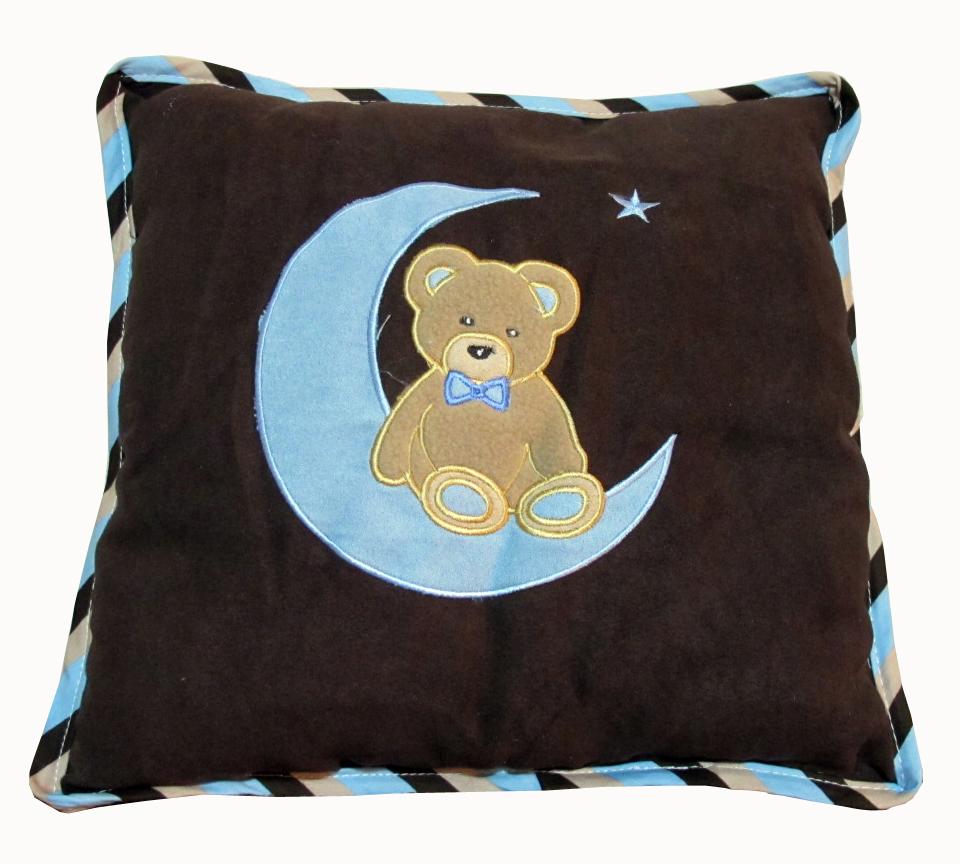 Baby Boutique Blue Bear Amp Moon 15 Pcs Nursery Crib