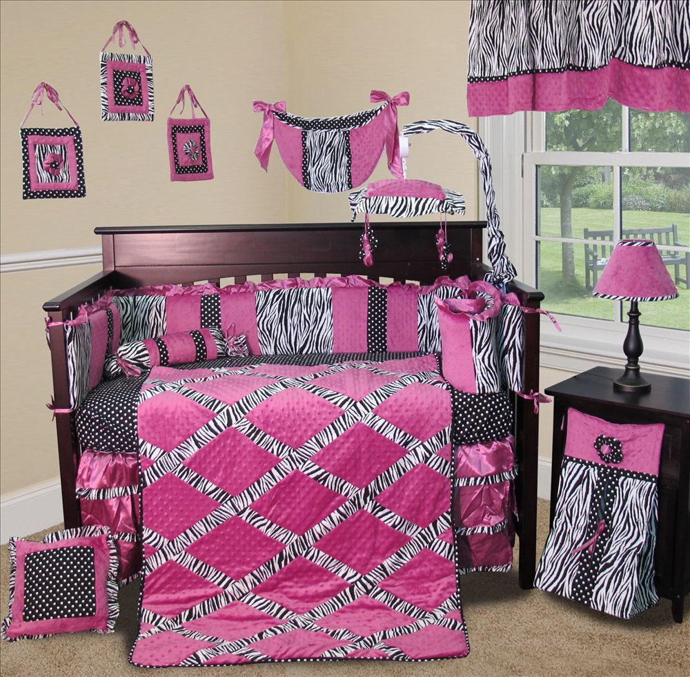 baby boutique zebra princess 13 pcs nursery crib bedding set. Black Bedroom Furniture Sets. Home Design Ideas