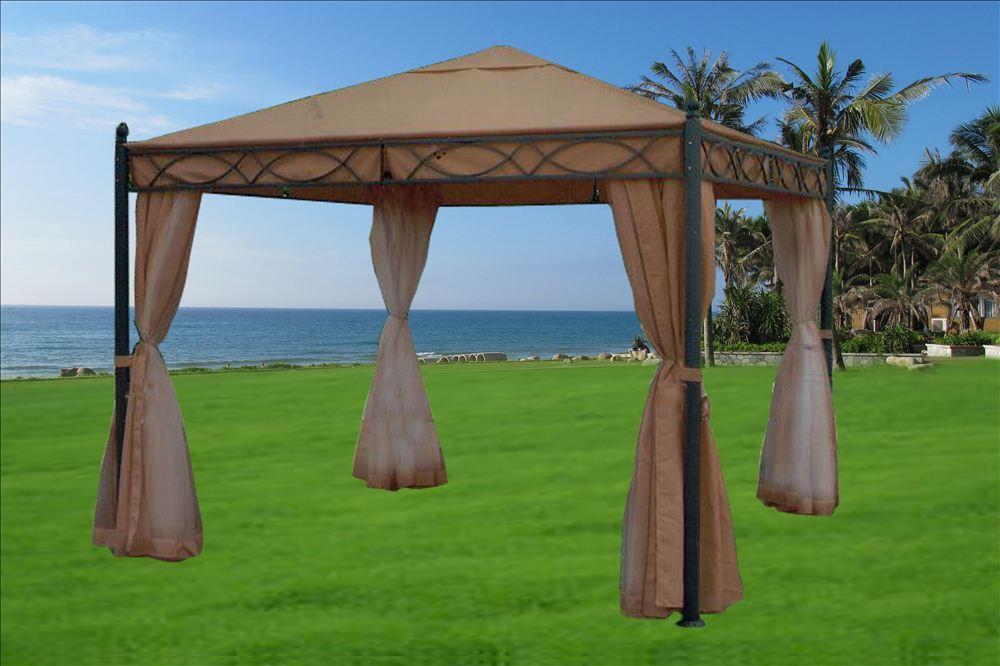 Steel Framed Gazebos : Steel gazebo x deluxe frame w mosquito