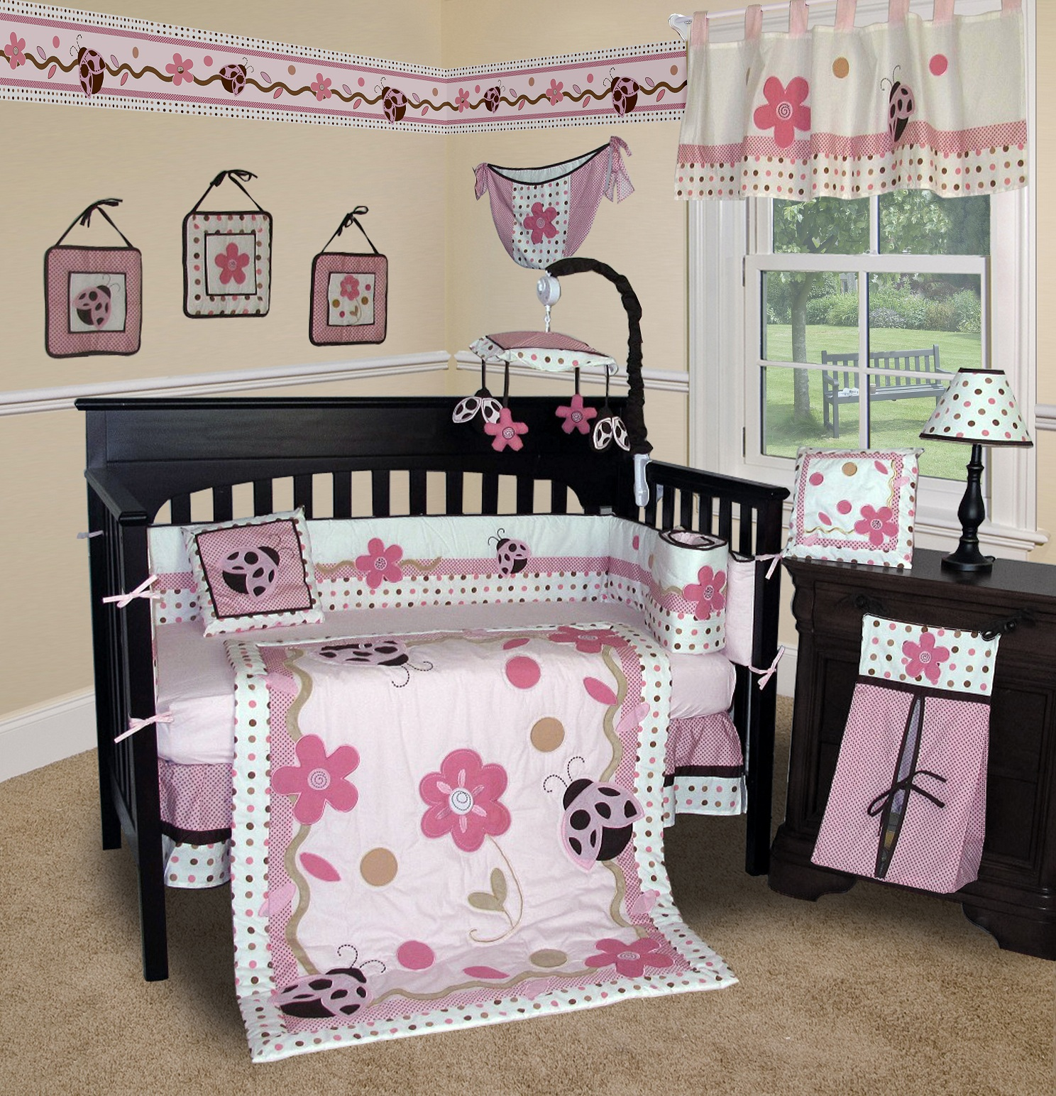 Baby Boutique Ladybug 13 Pcs Crib Bedding Set