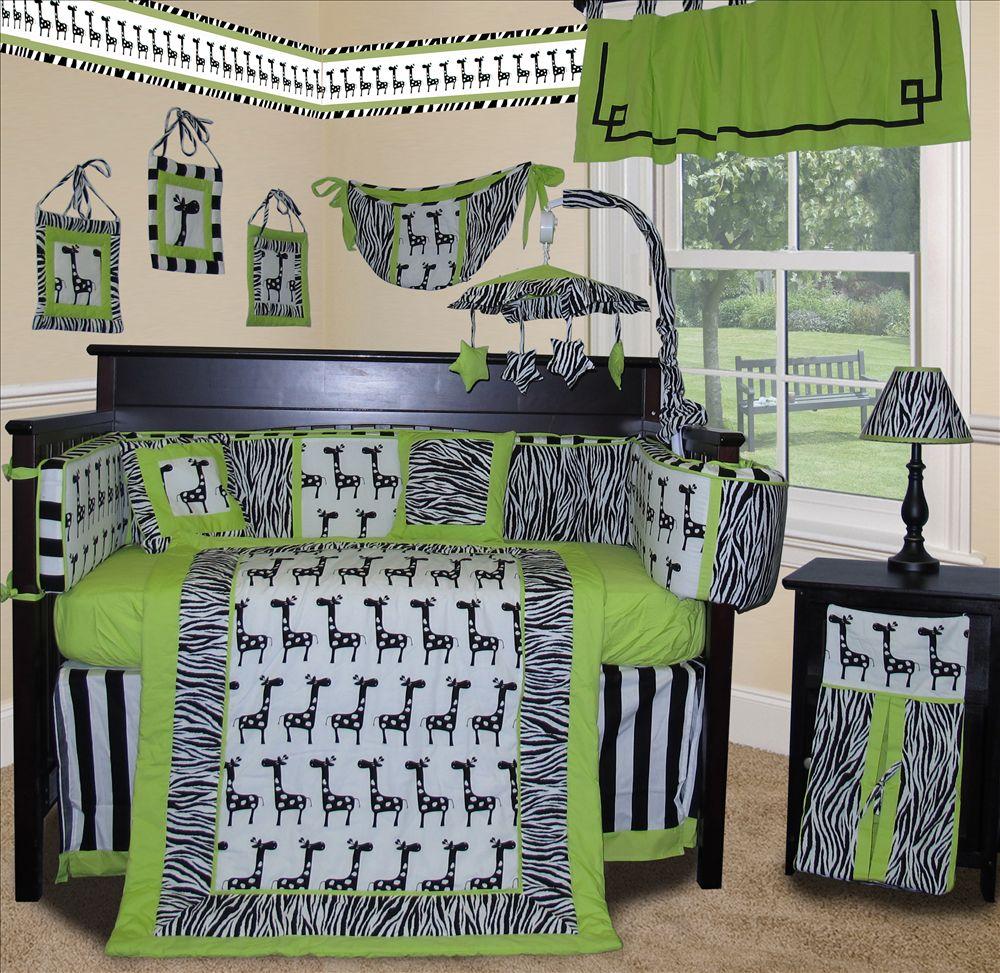 Baby crib zebra bedding - 0799418233925