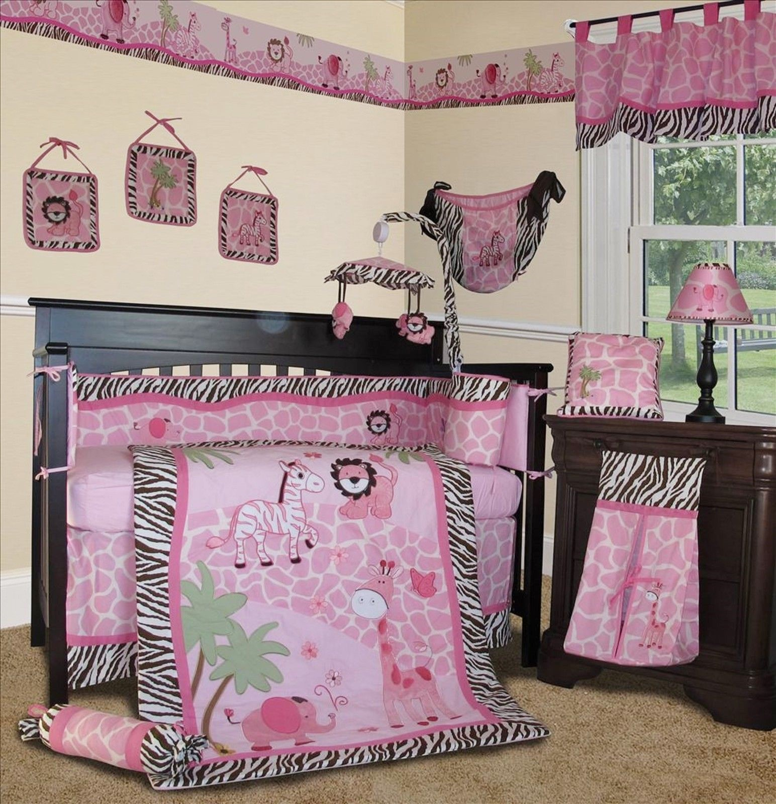 set pink for bedding girl sets baby girls nursery theme camo crib bed boys