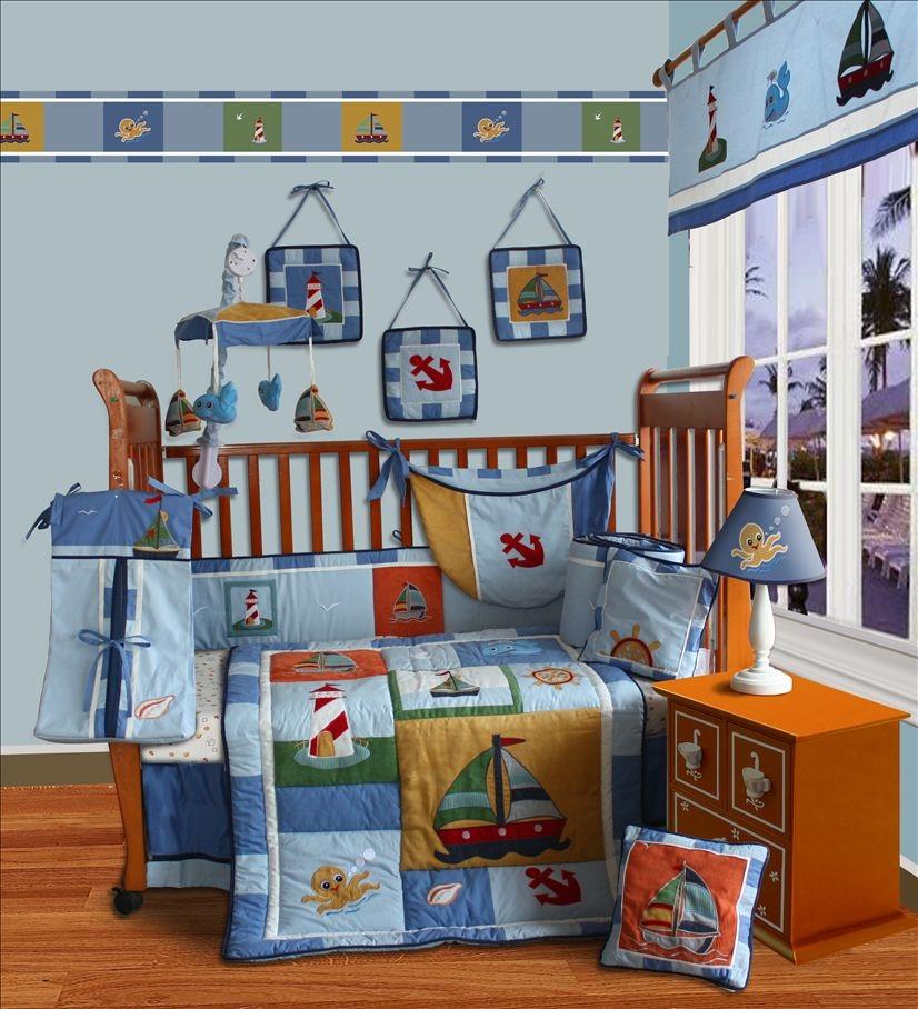 ... about Baby Boutique -Sail Away 13 PCS Crib Nursery Bedding Nursery Set