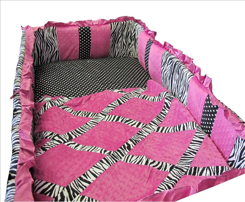Baby Boutique - Zebra Princess - 13 Pcs Crib Nursery Bedding Set 799418240480