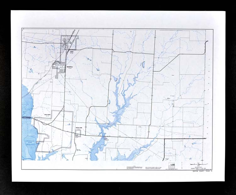 Texas Map Denton County Lewisville Lake Lincoln Park