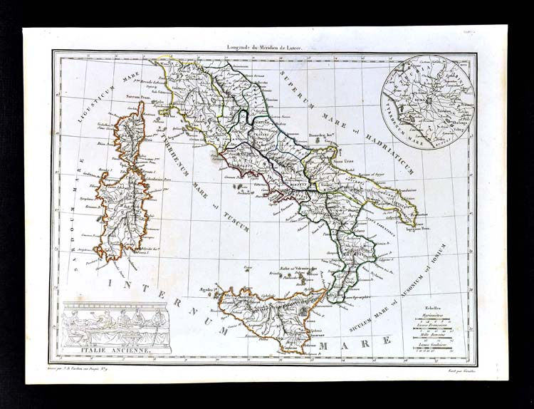 Where Is Pompeii On A Map Of Italy.1812 Malte Brun Lapie Map Ancient Italy South Roman Rome Naples