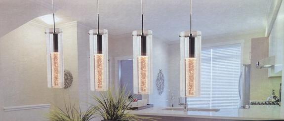 New Artika Champagne Glow Fixture 4 Pendant Indoor Ceiling Light
