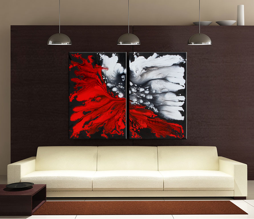 Large Art, Abstract Art, Modern Art, Art, Canvas Art, Oil painting by Nandita