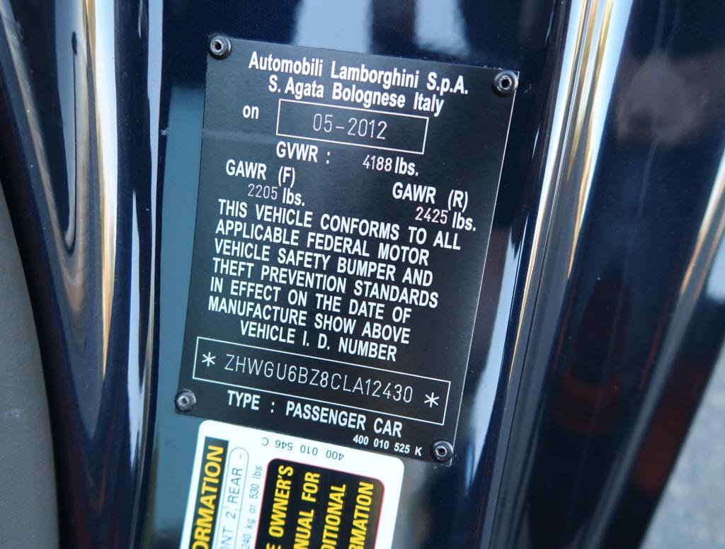 2012 Lamborghini Gallardo Lp 550 2 Spyder Ebay
