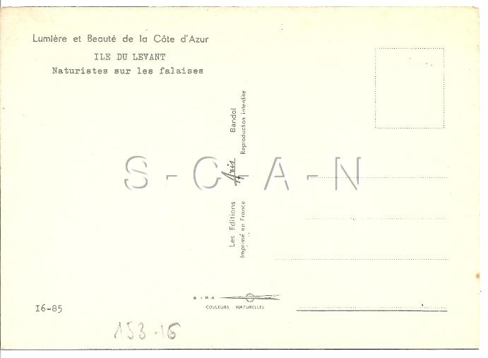 Original 1960s French Nude Risque PC- Naturisme- Ile Du