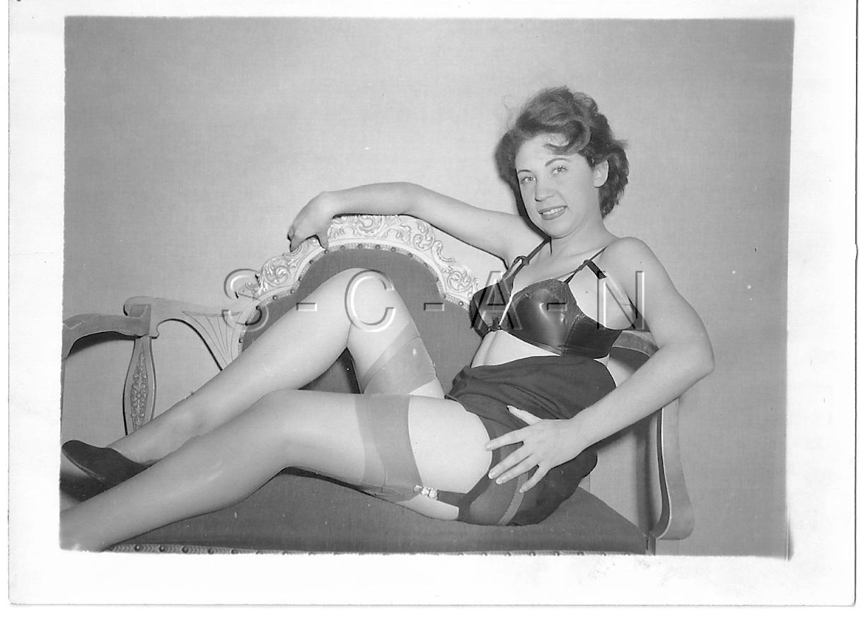 Original Vintage 40s-50s Semi Nude RP- Zebra Stripes