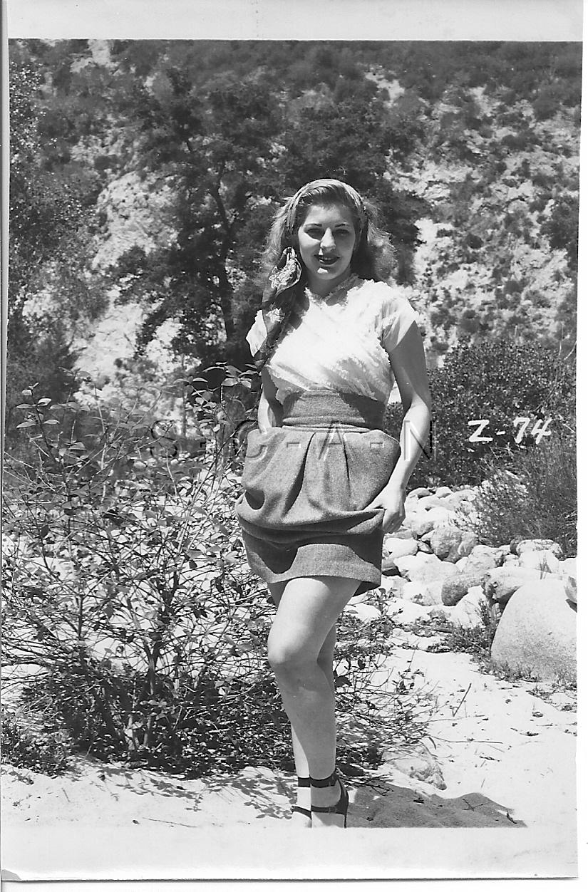 Original Vintage 1940s-60s Nude RP- Super Endowed Woman