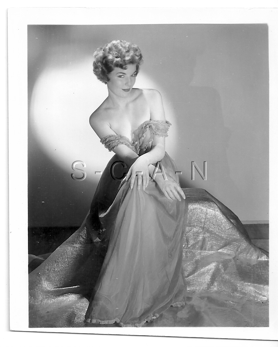 Original Vintage 1940s-60s Semi Nude RP- Two Women- Blond