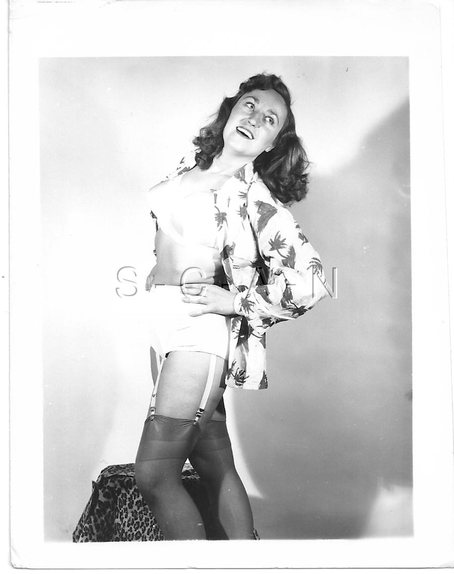 ORIGINAL VINTAGE 1940S-60S Halb- Nackte Rp- Stockings