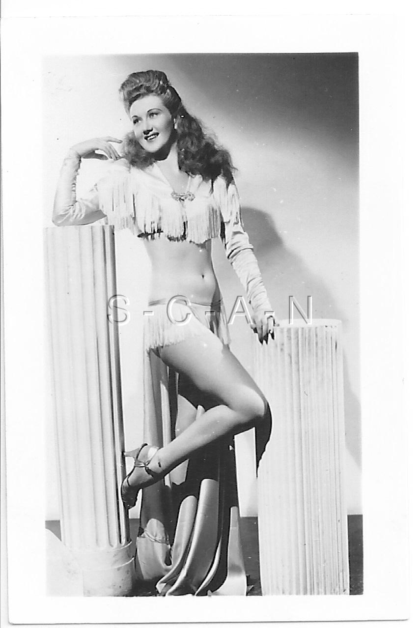 Original Vintage 1940s-50s Sepia Semi Nude RP- Detroit