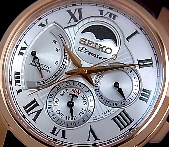 seiko moon phase watch instructions