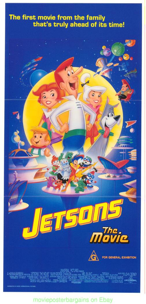 THE JETSONS MOVIE POSTER ANIMATION AUSTRALIAN DAYBILL : eBay
