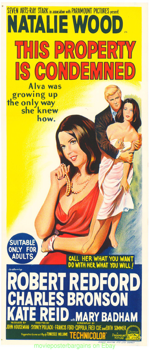 THIS PROPERTY IS CONDEMNED MOVIE POSTER AUSTRALIAN ROBERT ...