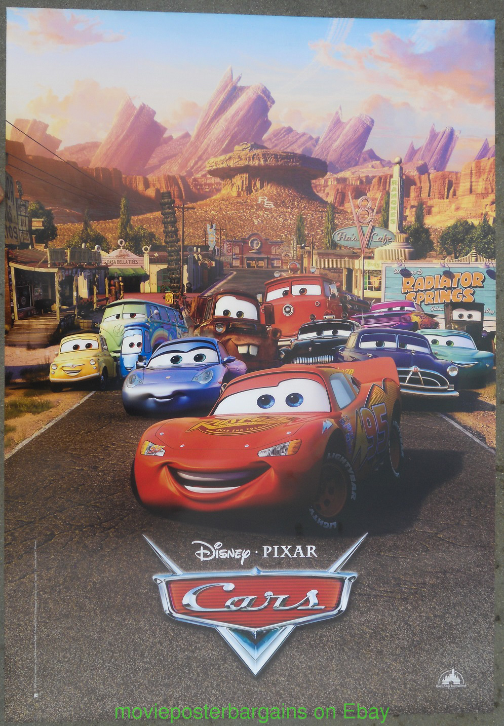 Cars movie poster 2006 pixar disney animation licensed different art one sheet ebay - Image cars disney ...