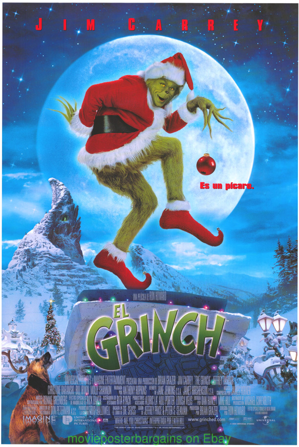 How The Grinch Stole Christmas Movie Poster.Details About How The Grinch Stole Christmas Movie Poster Ds 27x40 Intl Diff Art Jim Carrey